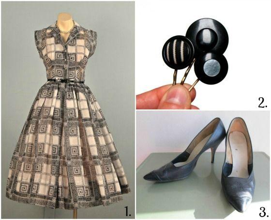 A fantastic 50's ensemble! #1950 #vintage #retro