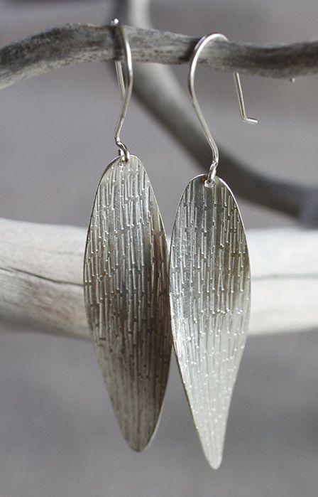 Handmade Silver Twist Drop Earrings