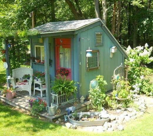 She sheds sheds and rustic charm on pinterest for Rustic shed with porch
