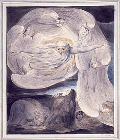 William Blake - The lord Answering Job from the whirlwind Pen, Ink and…