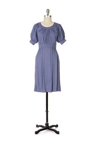 Ricrac Anthropologie maeve lavender blue jersey Fable Frock dress L