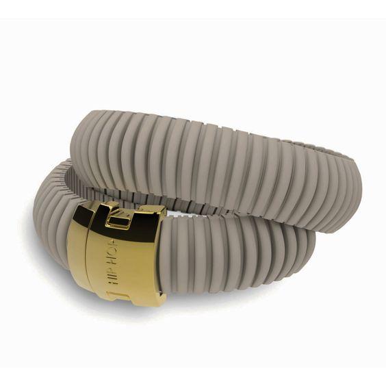 #hiphop: bracciale in silicone Colonial Kaki, 2 giri