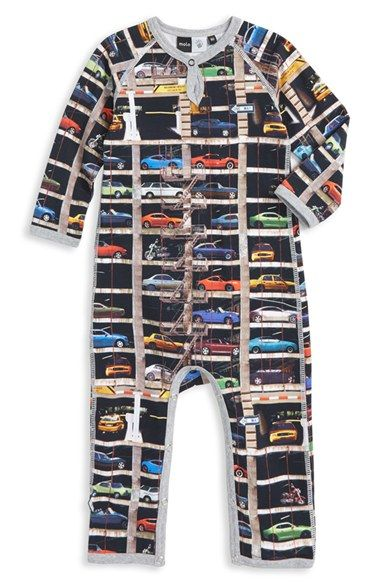 A stretch-cotton romper with a bold signature print will be the star of baby's wardrobe. A children's design studio based in Copenhagen, Denmark, molo produces charming pieces meant to encourage children's creativity and personal style.