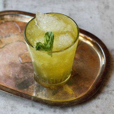 The clean, summery aroma of basil completely transforms the classic julep, traditionally made with mint. The drink is also traditionally made with Bourbon — here, we replaced that with Jameson Irish whiskey, whose subtle citrus notes intermingle beautifully with the sweet herbs.