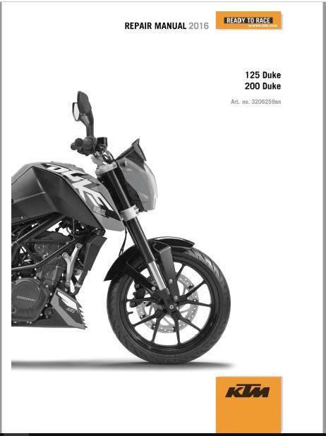 2016 Ktm 125 Duke Repair Manual In 2020 Repair Manuals Ktm Ktm 125 Duke