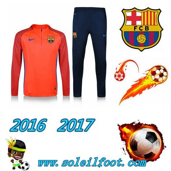 Liga: Survetements Enfant FC Barcelone Enfant Orange Violet 2016-2017 Chine Pas…