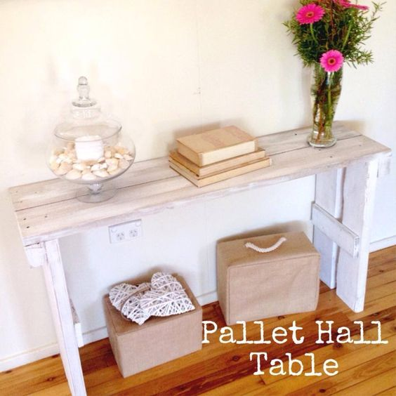 Hallway table made out of pallets. | House | Pinterest | Hallways ...
