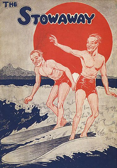 Historical surf art & vintage posters