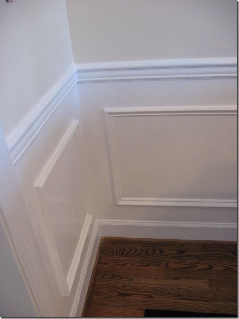 team look picture frame molding dining room customers try this