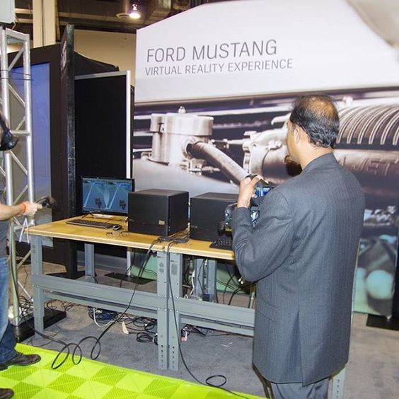 This is from the #AU2016 @Ford #Musting #VirtualReality  experience. THey are actually looking at a Musting, changing colors, opening doors, getting in, etc. How can Virtual Reality, Augmented Reality and SImulation come together to enhance your workflows Autodesk. Future of Making Things. Product Innovation Platform. PIP. PLM. CAD. CAM. CAE. BIM. 3D. 2D. Design. Simulation. Visualization. Automotive. Manufacturing. Industrial Machinery. Engineering.