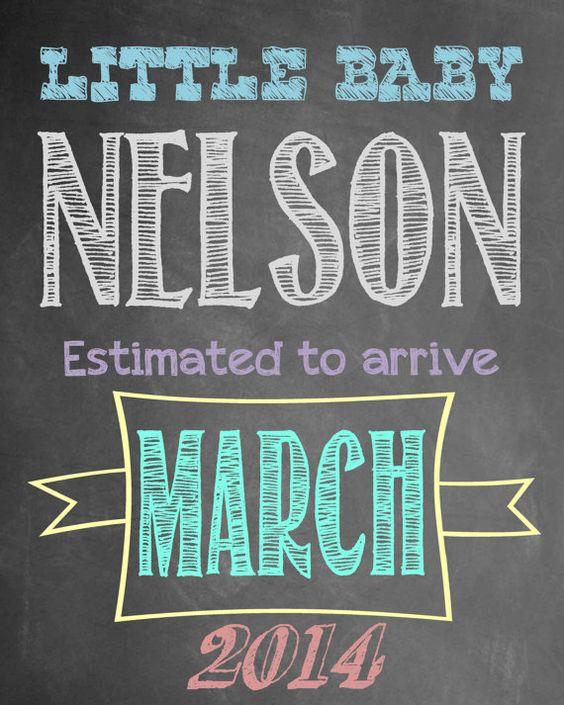 Chalkboard Pregnancy Announcement Photo Prop – Chalkboard Birth Announcement