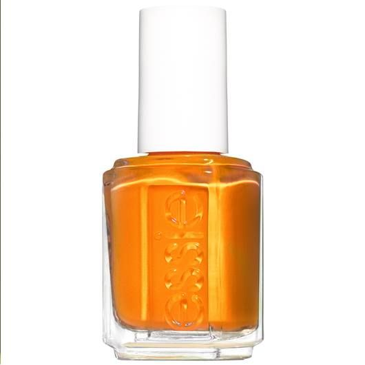A Fiery Neon Tangerine Orange Nail Polish With A Demi Matte Finish