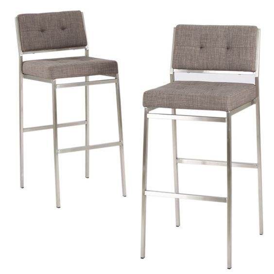 Christopher Knight Home Qyto Fabric Barstool (Set of 2)