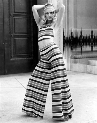 crop top, flared striped trousers, mary quant, 71