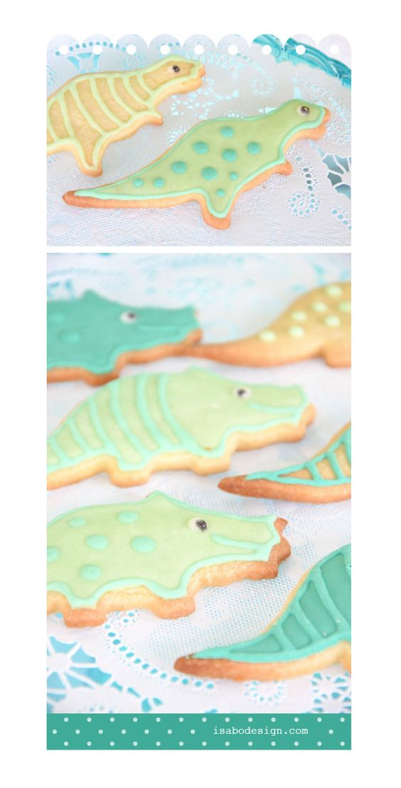 isabo, decorated cookies, biscotti decorati, dinosauri