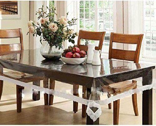 Heat Resistant Easy Clean Waterproof Plastic Table Cover Crystal