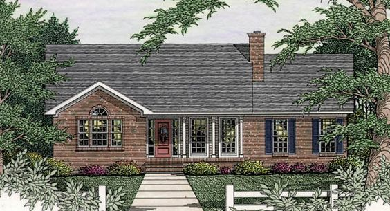 Plan Sutherlin Small Ranch House Plan 5458 Better