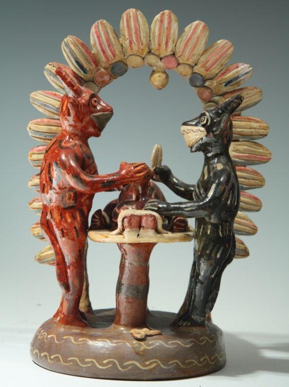 Ceramic Surgeon Devils from Ocumicho.  Beautiful ceramics designs @ Mike McDowell