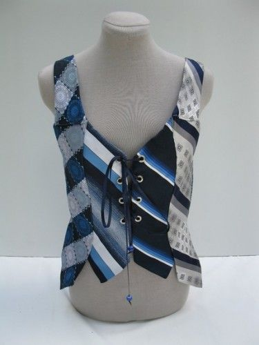 Tie Warrior Vest Vintage Neck Tie Small Medium by Embody on Etsy
