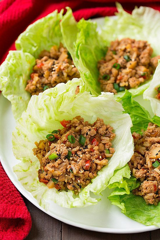 Slow-Cooker Asian Chicken Lettuce Wraps: Turn the slow cooker on and leave the oven off for these Slow-Cooker Asian Chicken Lettuce Wraps.