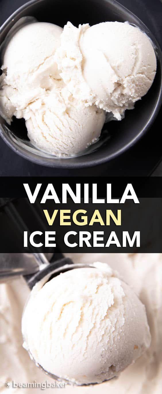 Homemade Vegan Vanilla Ice Cream Recipe In 2020 Vegan Vanilla Ice Cream Recipe Dairy Free Ice Cream Recipes Lactose Free Ice Cream Recipe