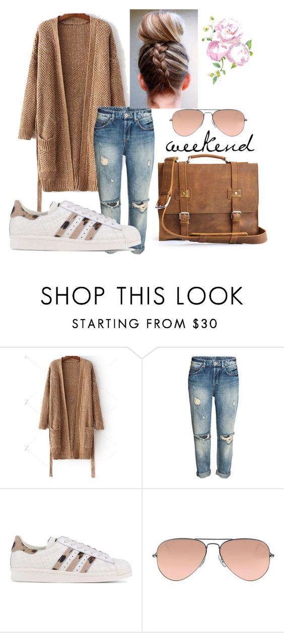 """""""Weekend"""" by marlondo ❤ liked on Polyvore featuring adidas Originals and Ray-Ban"""