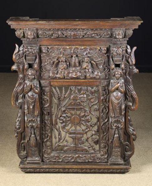 A Delightful Early 17th Century Flemish Pierced Oak Cabinet Oak Oak Cabinets Flemish