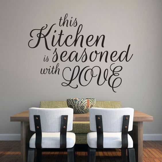Sweetums This Kitchen Is Seasoned With Love Wall Decal (24-inch x 18-inch)