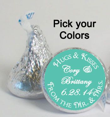 Hochzeit Bevorzugungen Süßigkeiten Aufkleber von digitaldoodlebug