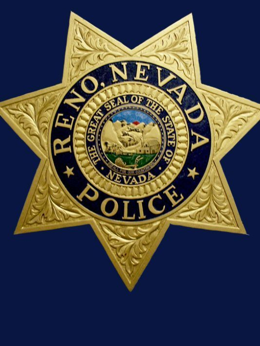 Us State Of Nevada City Of Reno Police Department Badge With