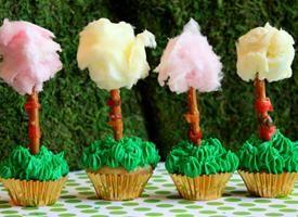 Lorax tree cupcakes.