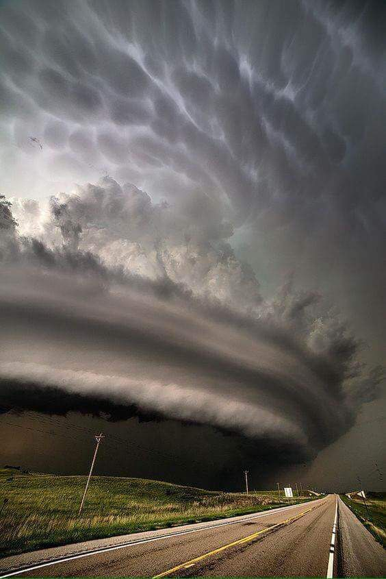 A picture of a tornado from Nebraska from a truck driver