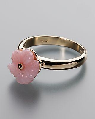 Terra Opalis Goldring mit Pink-Opal - von Terra opalis #schmuck #terra #opalis #opal #edelstein #ring