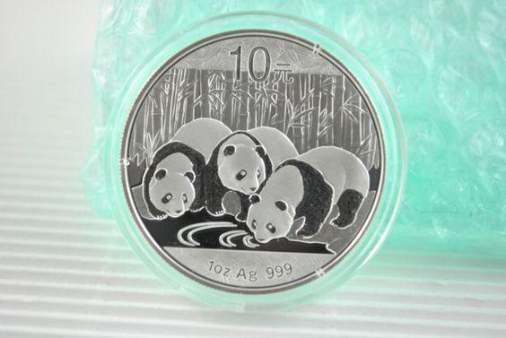 Coin: ($33.79) 2013 1 Oz Silver Chinese Panda  Bright Silver .999