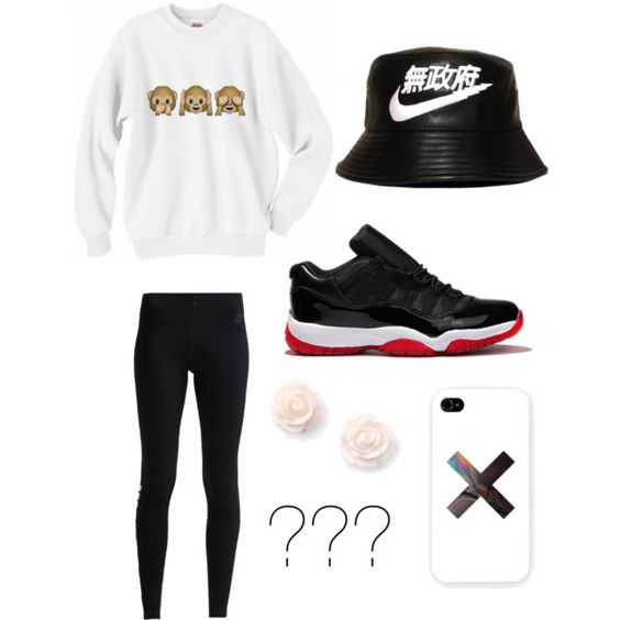 ??? by alleysump on Polyvore featuring polyvore, fashion, style, NIKE, Samsung and Freaker