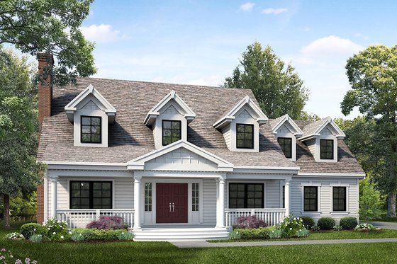 Colonial Style House Plan 4 Beds 3 5 Baths 3362 Sq Ft Plan 453 147 Eplans Com Colonial House Plans Country Style House Plans Colonial House