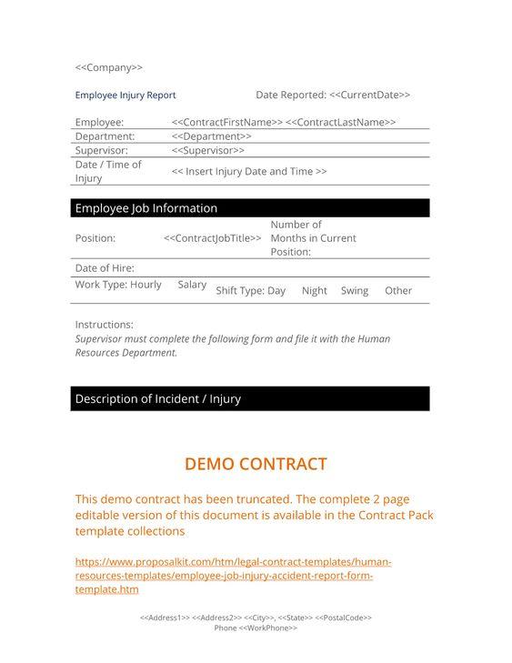 Proposal Kit (proposalkit) op Pinterest - accident report template