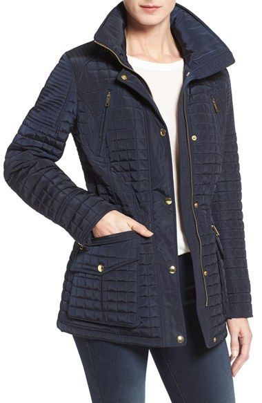 MICHAEL Michael Kors Box Quilted Stowaway Hood Jacket: