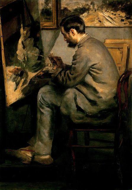 Retrato de Frédéric Bazille, 1867. De Auguste Renoir Óleo sobre lienzo. 105 x 75,5 cm. Museo de Orsay. París. Francia.
