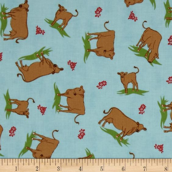 Designed by Mary Jane for Moda, this cotton print fabric is perfect for quilting, apparel and home decor accents. Colors include brown, blue  and red.