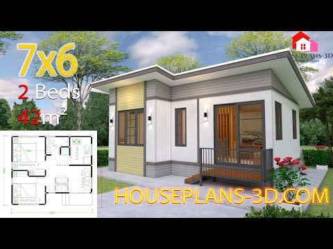 Small House Design 6 5x8 5 With 2 Bedroomsthe House Has Car Parking And Garden Living Room Dining Roo In 2020 Small House Design House Plans Small House Design Plans