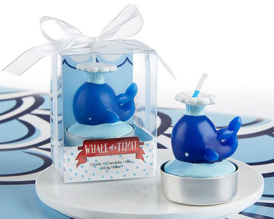 Nautical Whale Candle (Set of 4)