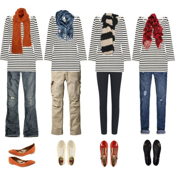 "polyvore...love the stripe shirt"")"