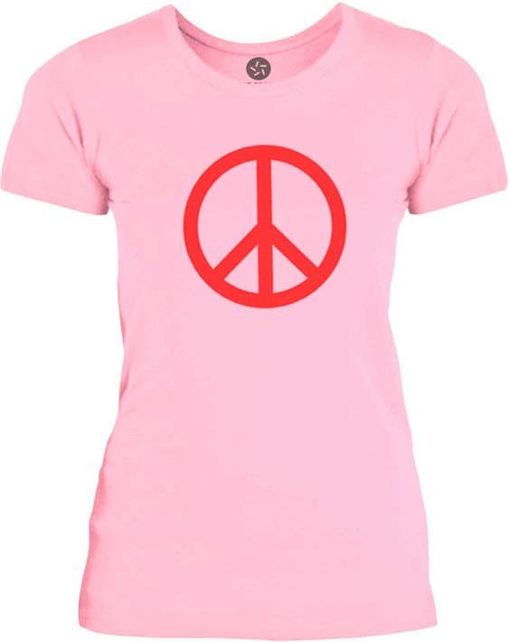 Big Texas Small Peace Sign (Red) Womens Fine Jersey T-Shirt