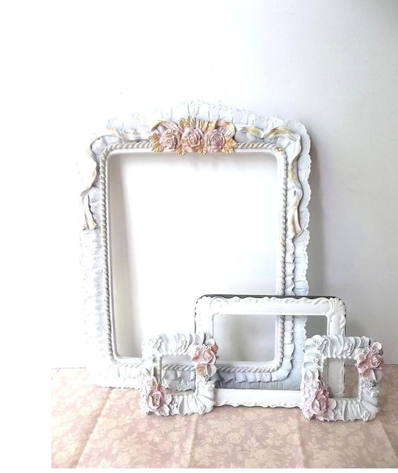 White Shabby Chic Cottage Roses. Painted Picture by 3vintagehearts, $39.99