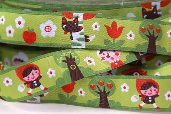 woven ribbon 'little red ridinghood' by ByBora on Etsy, $2.70