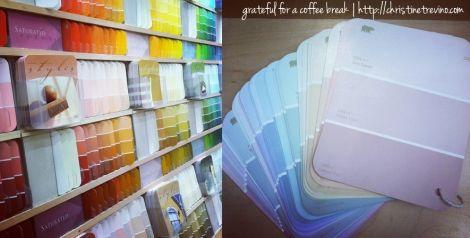 DIY Paint Color Swatch Book