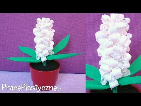 Jak Zrobic Kwiaty Z Krepiny Hiacynt Youtube Quilling Planters Lei Necklace