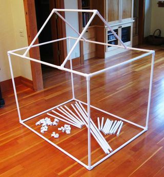 Kid-Size Construction Kit from PVC Pipe