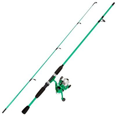 Wakeman Fishing Rod Spinning Rod And Reel Combo Green Metallic Swarm Series Fishing Rods And Reels Rod And Reel Fishing Rod